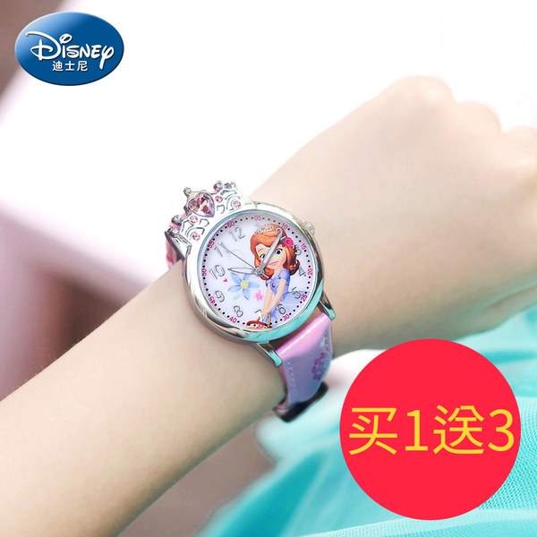17年新款 Disney 迪士尼 艾莎公主 儿童卡通手表 优惠券折后¥68包邮(¥98-30)