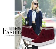 Fall 2015 designer shoes for casual shoes in han edition flat wicker woman single shoes inside XueShengChao increased