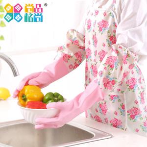 领1元券购买家居厨房清洁家务加绒洗衣服手套