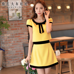 Summer skirt skirt pink doll 2015 new Womenswear fashion summer spell-a-line skirt