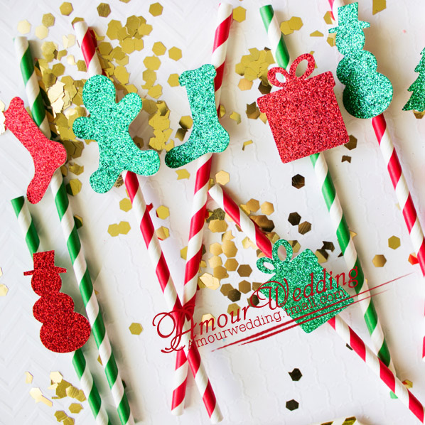 Christmas tree Snowman Christmas environmental protection paper straw creative wedding wedding birthday theme party decorations