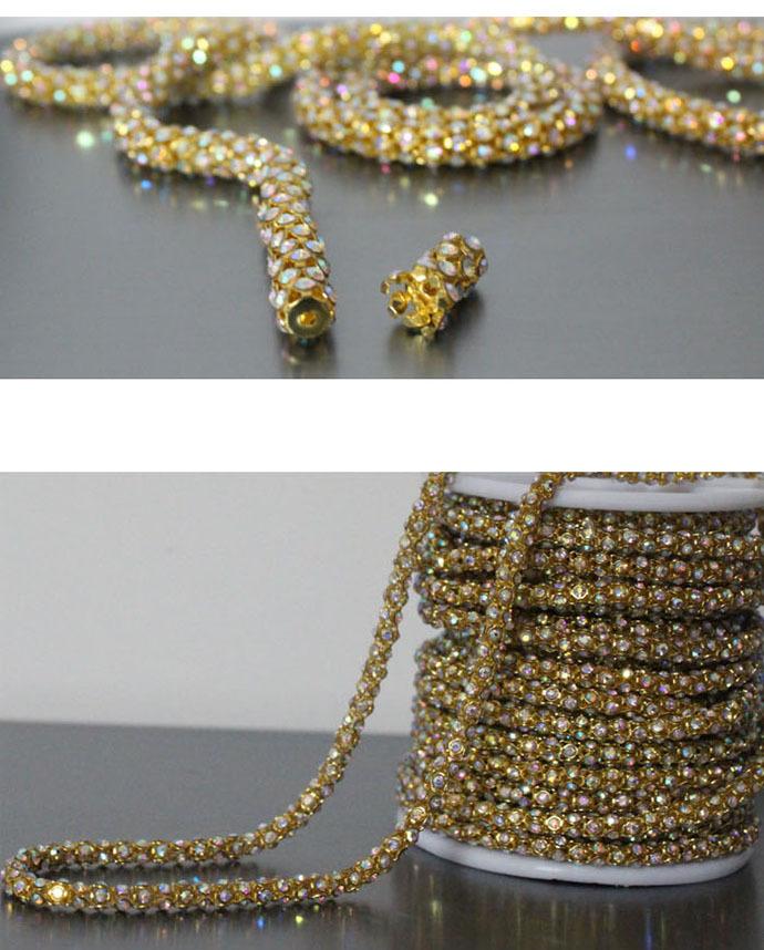 Только высокого класса ручной сшиты алмазов цепи одежды DIY воротник украшения свадебное платье аксессуары ручной работы материалы