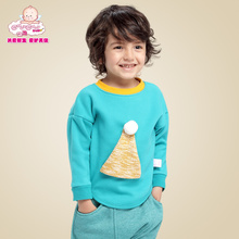 Ugly baby young boy fall 2015 new baby long-sleeved round collar and velvet T-shirt