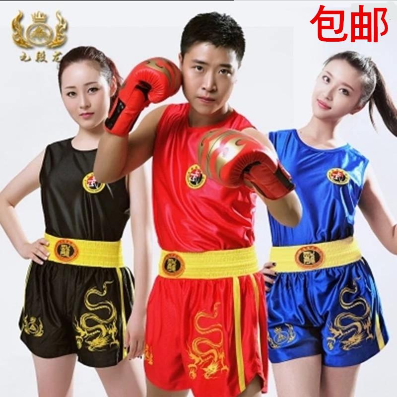 Пакет mail раздел одежда костюмы вышитые дракона Дракон Санда саньда Муай тайский бокс обучение брюки для мужчин и женщин спортивные шорты