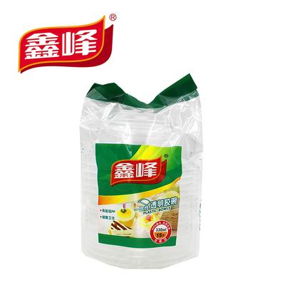 鑫峰一次性加厚家用环保透明胶碗快餐打包汤碗调料碗15个/包0589