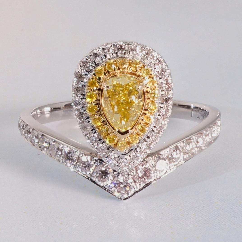 Рыцарь алмаз природный алмаз желтый бриллиант кольцо кольцо бриллиантовое кольцо 18k платина золото 1 карат группа инкрустация выйти замуж ювелирные изделия женщина