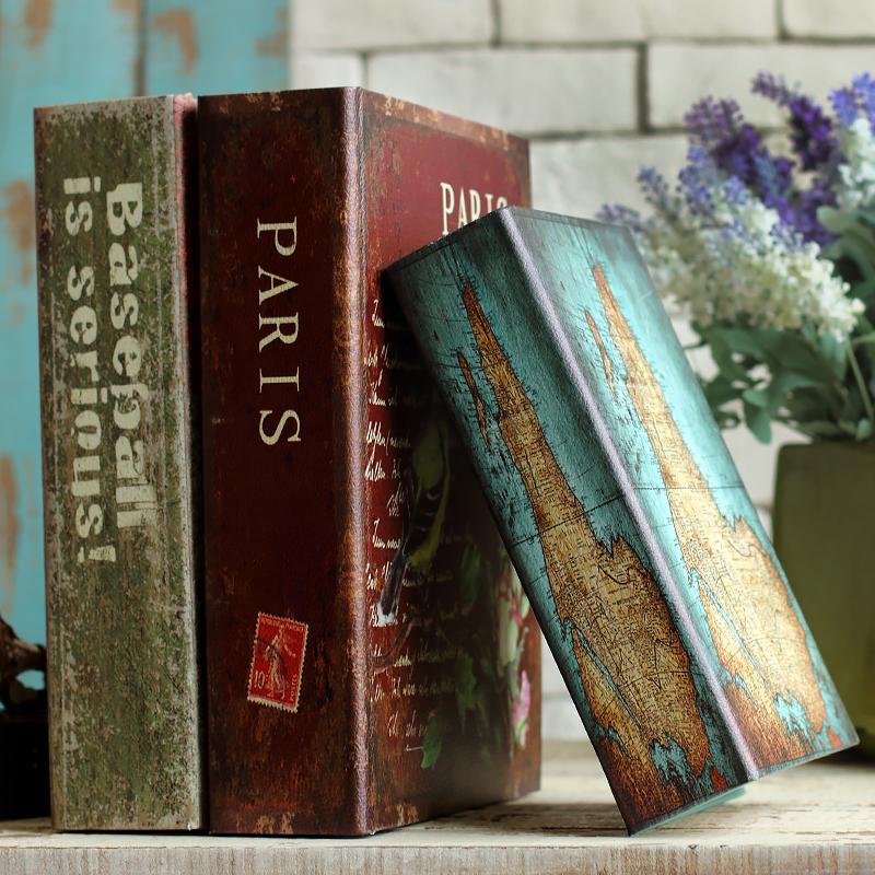 法慕小城歐式裝飾假書擺件美式客廳家居裝飾品書房 仿真書道具