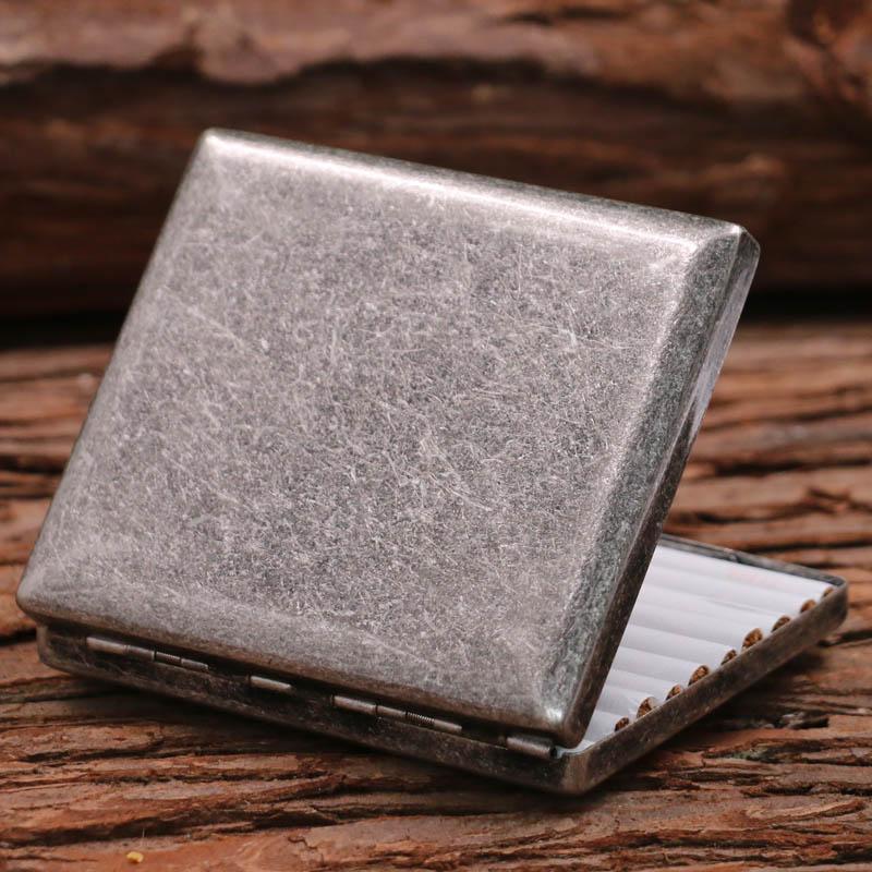 热销49件限时2件3折KUBOY酷宝 古银烟盒 20只装便携男复古铜香菸盒超薄防压送礼正品