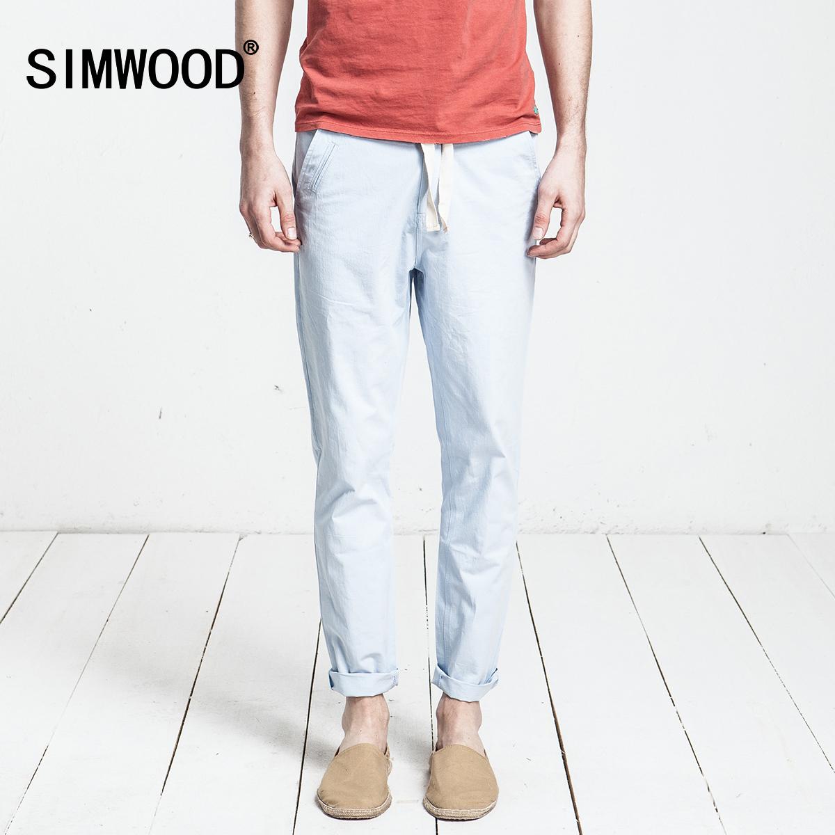 Simwood Мужская одежда Весна 2016 Мужские повседневные брюки, Мужские брюки, гарем брюки связанные ноги в Европе и ветер брюки бум