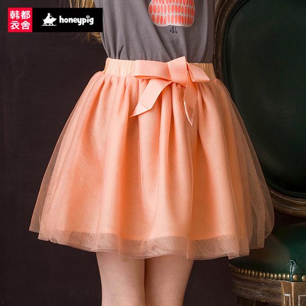 预售honeypig童装夏装新款女童半身裙公主裙网纱裙子CHT4009