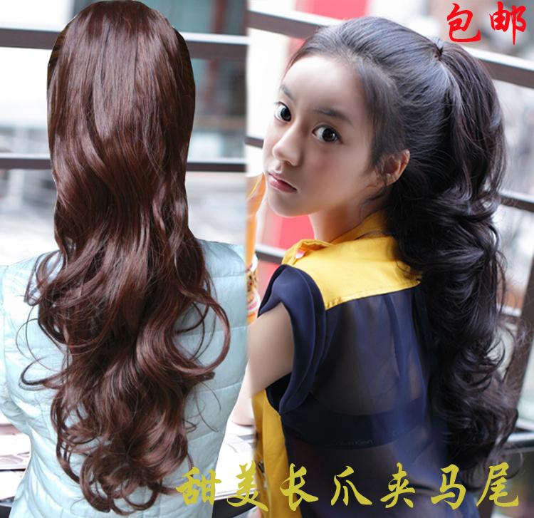 Пакет mail парик хвост реальный поймать клип хвост парик парик женщин ГРУША объем волнистые длинные волосы