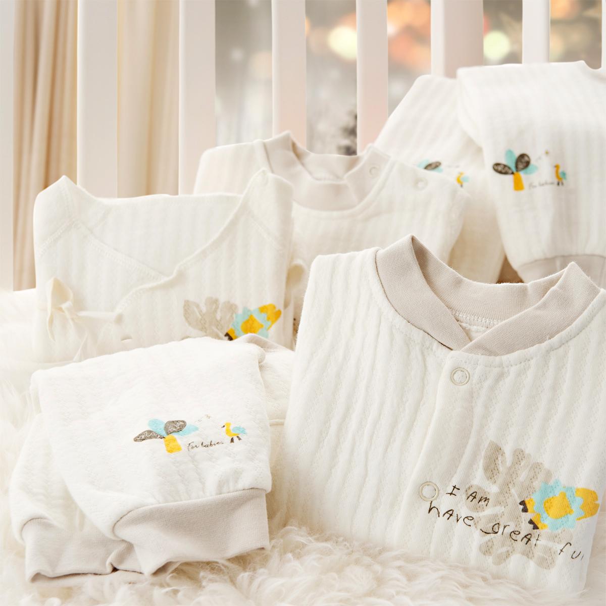 Пи Ruoqiao осень/зима Упакованные детей белье хлопок Детские Одежда новорожденного 0 месяцев 1-3 тепло