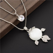 Good necklace for women winter sweater simple Joker accessories long fashion necklace Korea jewelry pendant package mail