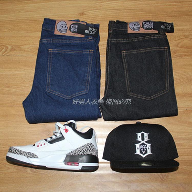 Дешевые понедельник скинни джинсы bboy ноги карандаш штаны фургонов скейтборд брюки случайные смерти летать BMX