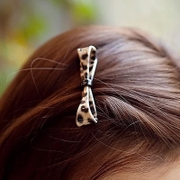 Know NI Korea fashion Leopard-loving Butterfly clip Korea hair accessories side clip Clip new tide girls jewelry
