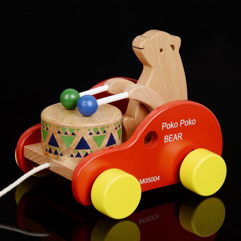 宝宝学步拉车玩具推车小熊敲鼓车小孩玩具婴儿 男孩女孩0-1-2-3岁满28元可用3元优惠券