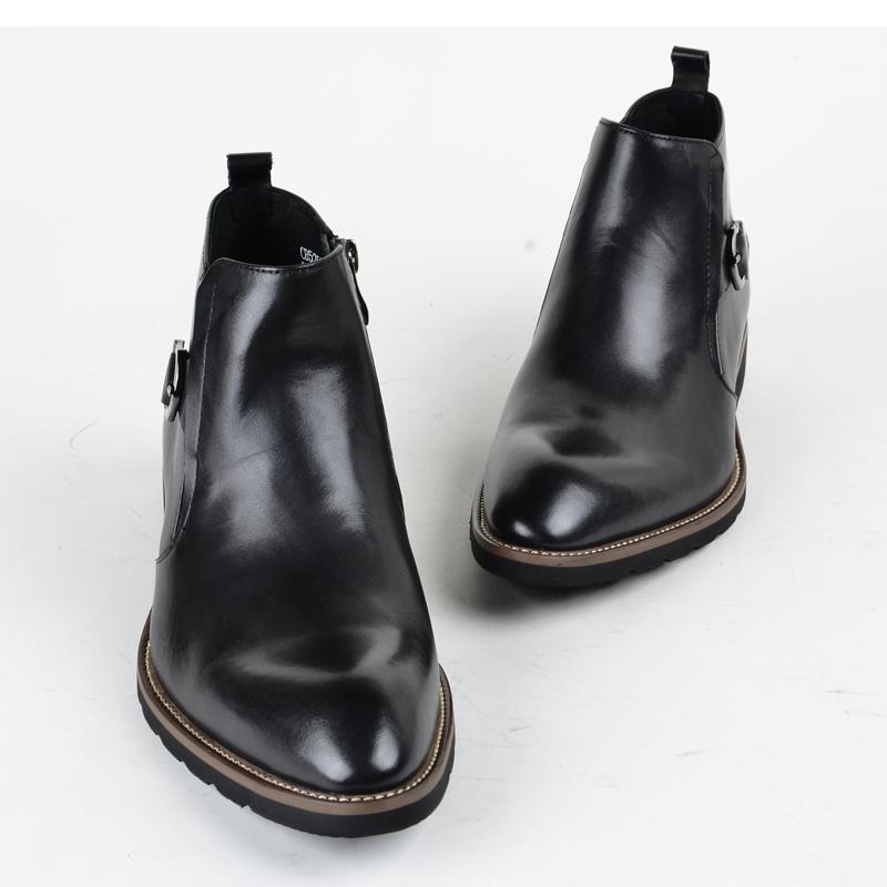正装高帮鞋男士欧美真皮靴子潮短靴