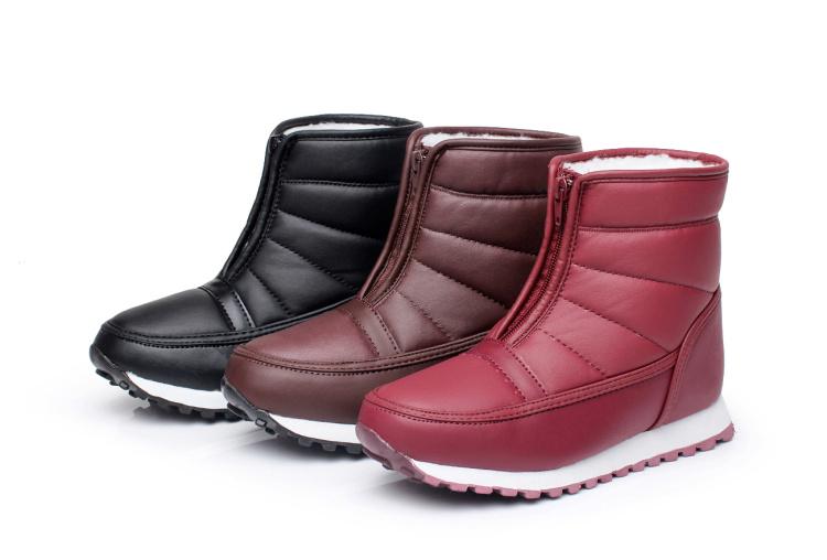 Зимняя обувь старый снег ботинки анти-скольжения обувь Мужские Короткие ботинки плоские толщиной водонепроницаемый мать старый барабан
