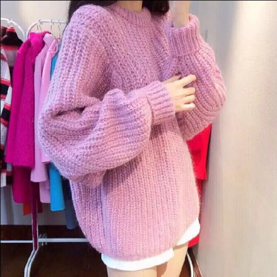 Новое на осень/зима шею с длинным рукавом Свободный свитер девушка вязаный долго batwing пальто куртки в корейской версии пакета почты