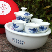 Special ceramic tourist travel kung fu tea sets an on-board portable package your kiln celadon cup out of a complete set of