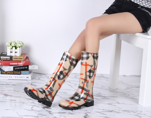 Foreign trade boots Discounted green rubber boots wellies British boots fashion rain boots boots women