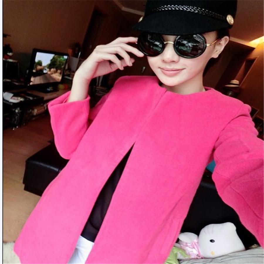Осенью и зимой новый Корея покупке корейской версии себя в шерстяной ткани пальто Длинные шерстяные пальто женщин