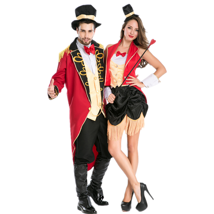 British couple male and female trainer Knight Baroness Nutcracker role play Halloween Party Costume uniform