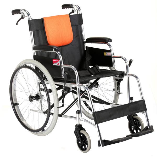 鱼跃轮椅H062 老年老人折叠轻便轮椅车 铝合金手动轮椅车lunyi