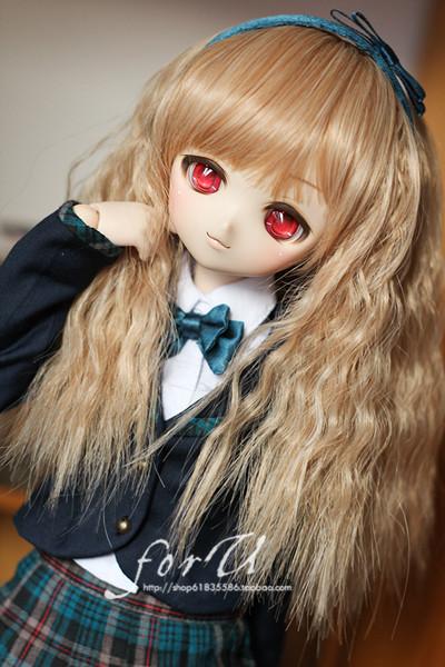 +Spot + [l310-b12] DD / BJD wig 1 / 3 baby ◇ long hair foam roll daily