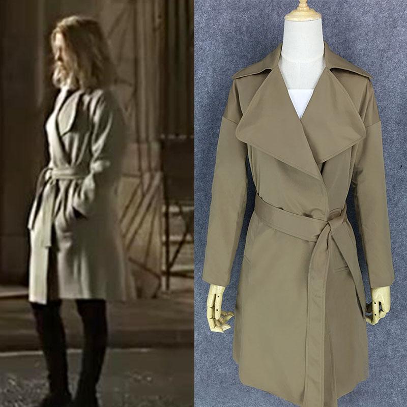 春季新007詹姆斯邦德幽灵党邦女郎蕾雅赛杜同款风衣修身外套chic
