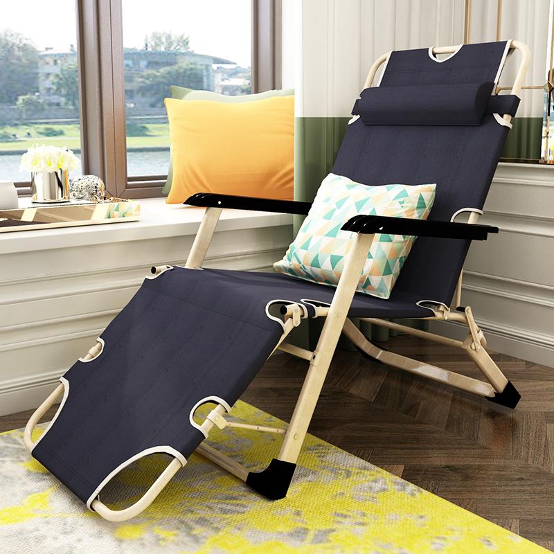 億家達折疊椅子便攜家用躺椅午睡椅懶人沙發單人飄窗椅沙灘椅