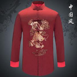 唐裝男喜慶上衣中式婚禮外套中國風禮服男裝民族服裝主持演出服男圖片