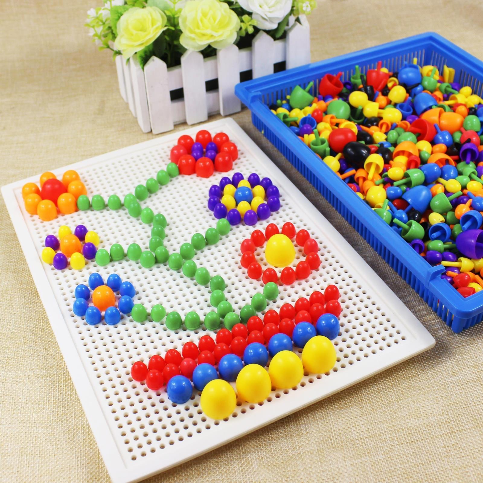 幼儿童3D立体拼图3-4567岁益智智力玩具宝宝塑料拼板拼插积木小孩