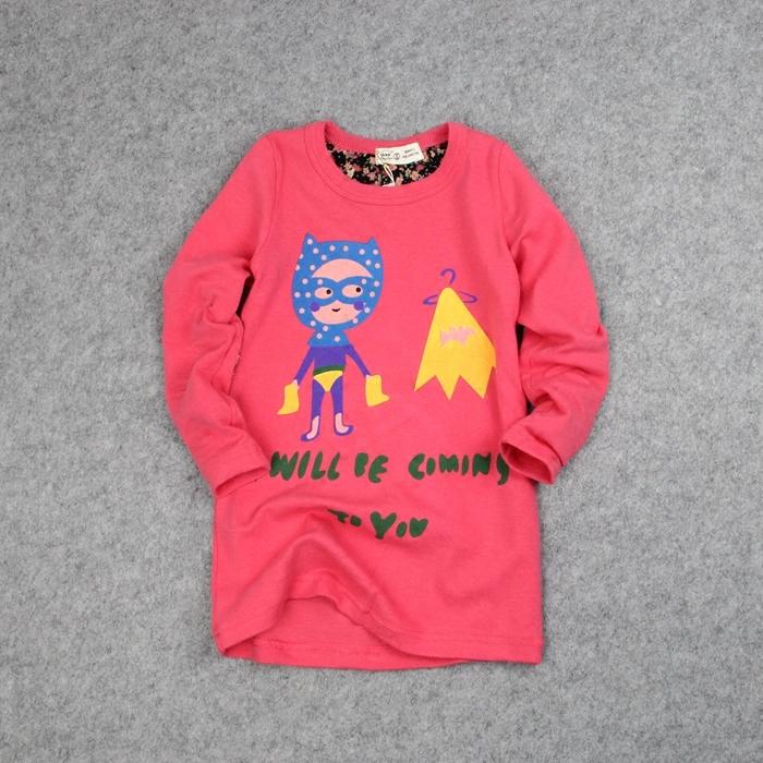 Email Europe обнять рубашку аутентичные весны хлопка корейских девочек мультфильм Детская одежда длинные рубашки мальчиков 5110