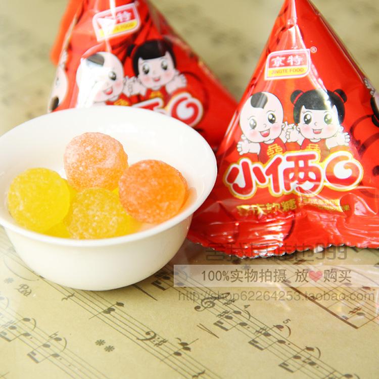 京特小两口水果汁味软糖散装称250g 结婚喜庆宴喜糖果 3斤包邮