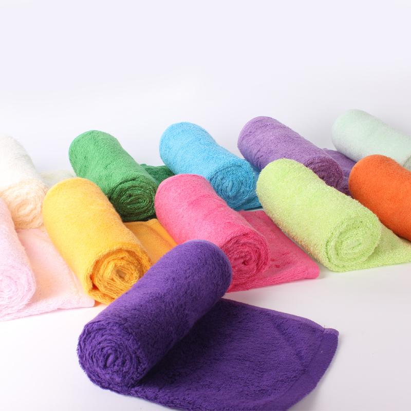 满38元包邮堡纳丝多色竹纤维毛巾洗脸巾美容超柔软吸水情侣毛巾