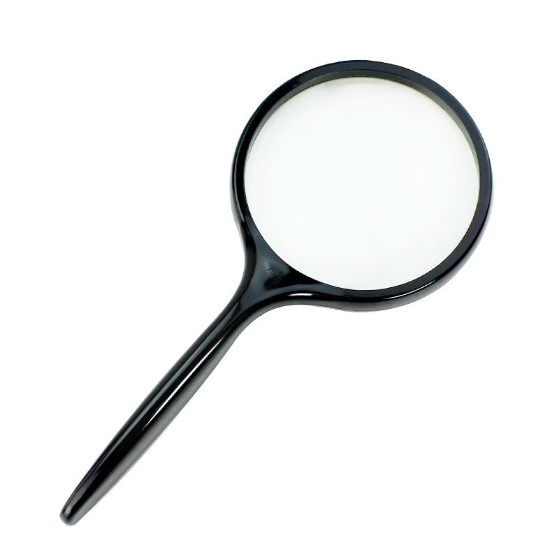 户外手持式放大镜5倍光学玻璃放大镜读书看报野外考查办公放大镜