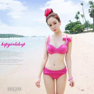 stylebyyam Korea purchasing authentic spot color waist breast Oh shoulders BIKINI Bikini