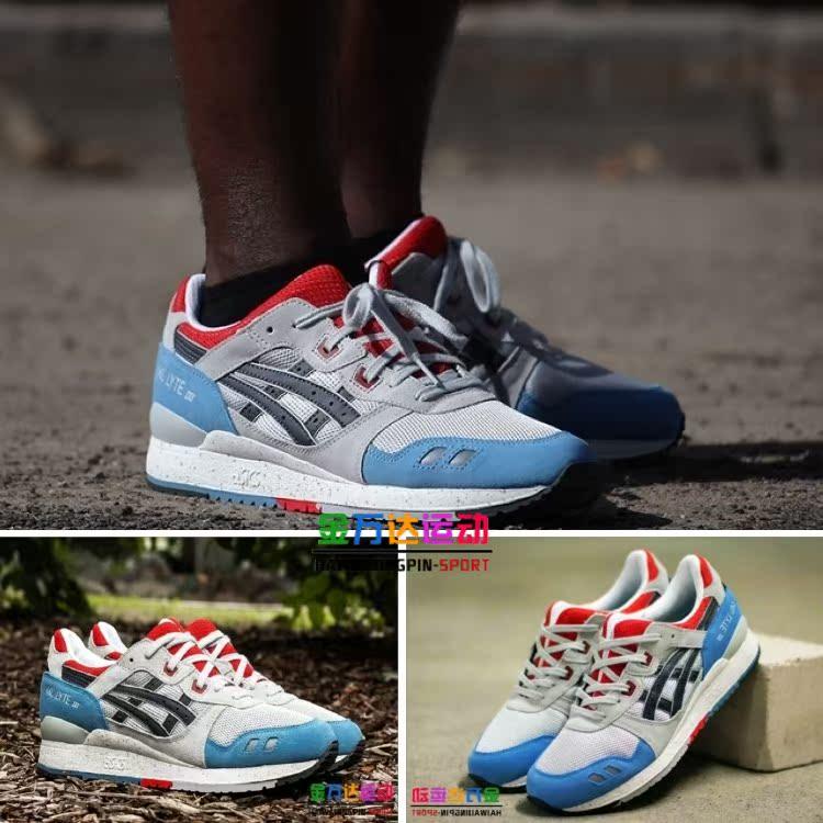 huge discount 701ec 5881d Asics Asics Gel-Lyte III stranger Lee Jong-suk gray blue men shoes red  H425N-1016