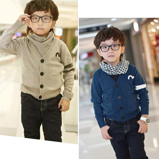 Children s clothing baby girls boys tide sweater cardigan sweater coat sweater new Autumn New