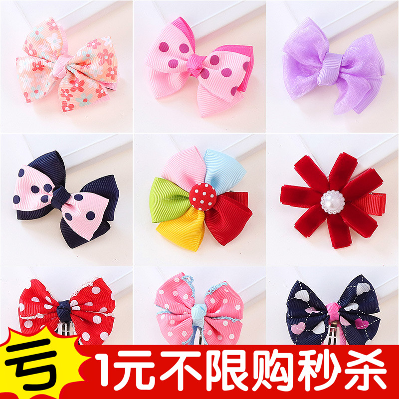 Children hairpin cute princess lady head flower bow baby girl baby girls hair jewelry hairpin