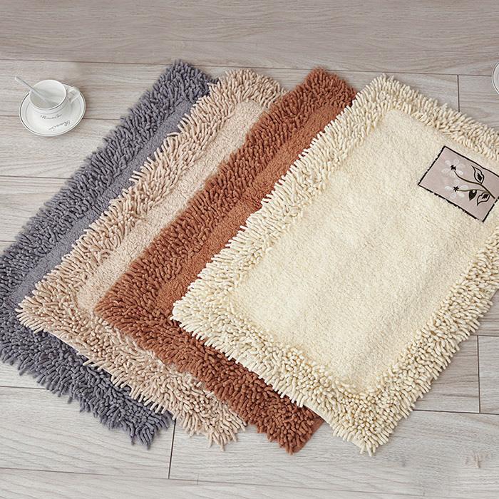 高档纯棉雪尼尔地垫门垫进门厨房地毯卫生间浴室脚垫加厚吸水防滑