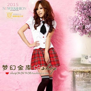 Британские школьная форма - костюмы - (рубашка + клетчатая юбка) костюм - японские мундиры - школьная форма Корея