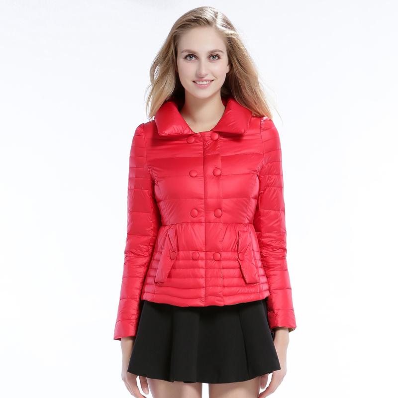 梦娜世家新款秋冬保暖韩版时尚短款女士羽绒服促销