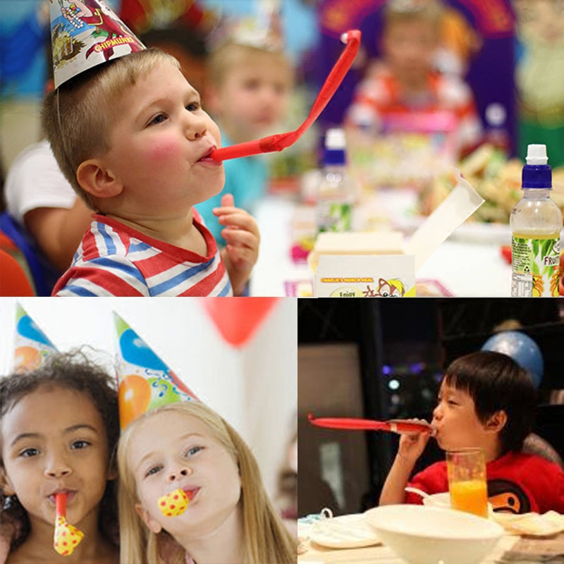 吹吹卷小喇叭哨子创意玩具 儿童生日派对吹龙口哨卡通新奇小玩具