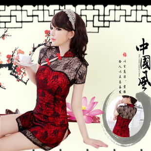 Golden Years Retro style cheongsam sexy transparent lace sexy underwear Ms temptation to suit 9797
