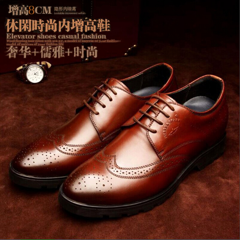 Block mens shoes winter formal shoes wedding shoes mens high shoes mens 8cm invisible inner height mens shoes 6cm