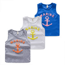 Baby sea anchor vest 2015 summer wear han edition of the new boy's children's children render unlined upper garment of tx - 5316
