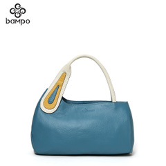 Bampo Banpo decorated brand of genuine original baodan a lady elegant contrast color leather girl shoulder bag