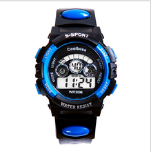 Package mail authentic waterproof LED luminous drop of primary and middle school students student electronic multi-function digital watches children watch